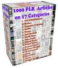 Thumbnail 1000 High Quality PLR Articles in 17 Different Niches and Ca
